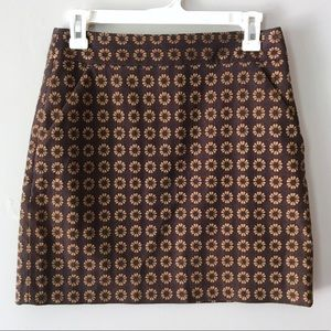 EUC Loft floral rustic mini skirt with pockets 2p